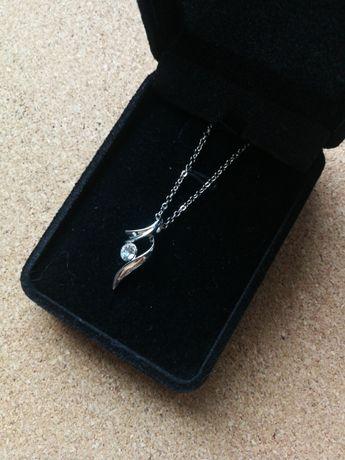 Naszyjnik z zawieszką kryształ nowa Walentynki