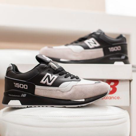 6113 New Balance 1500 черные кроссовки мужские зимние с мехом сапоги