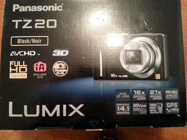 Aparat turystyczny Panasonic Lumix TZ-20 z obiektywem LEICA +akcesoria