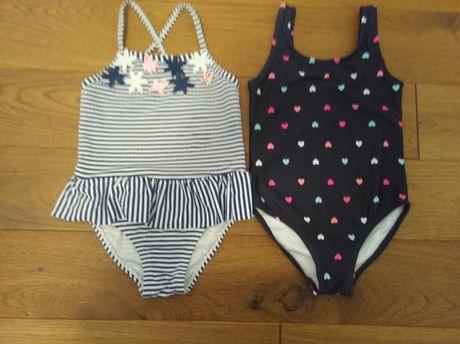 2 kostiumy kąpielowe dziewczęce cool club r. 92 +pieluszki do pływania