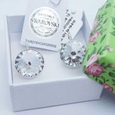 Серебряные сережки Swarovski подарок любимой девушке жене маме