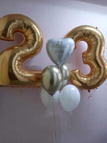 Kompozyja balonów na rocznice