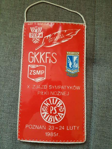 Proporczyk klubu Lech Poznań z 1985 roku