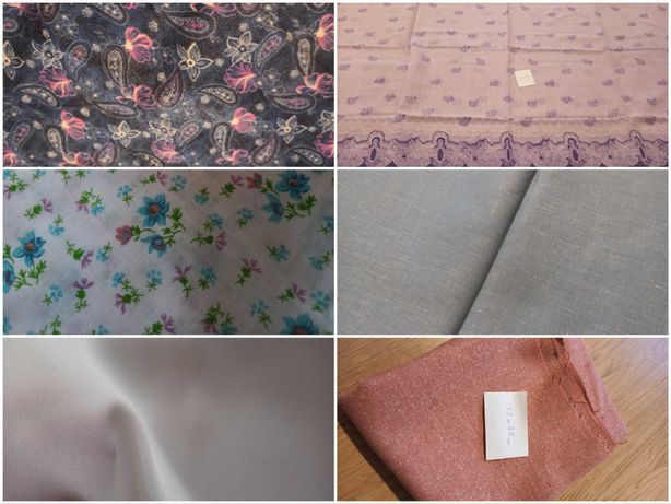 Materiał kupony tkanina wzory kolory 12zł/mb paczka tkanin - Kup3za2
