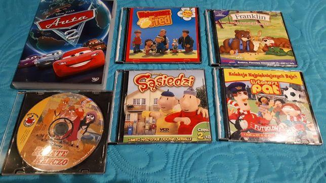 Bajki dvd i vcd-Auta,Sąsiedzi,Listonosz Pat,Franklin,Weterynarz Fred