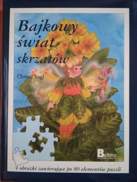Puzzle książka Bajkowy świat skrzatów