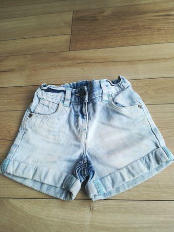 Spodenki jeansowe dla dziewczynki firmy Next rozmiar 92 wiek 1.5-2-lat