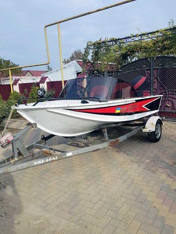 металлический катер (моторная лодка) Южанка 2 + двигатель Yamaha 60