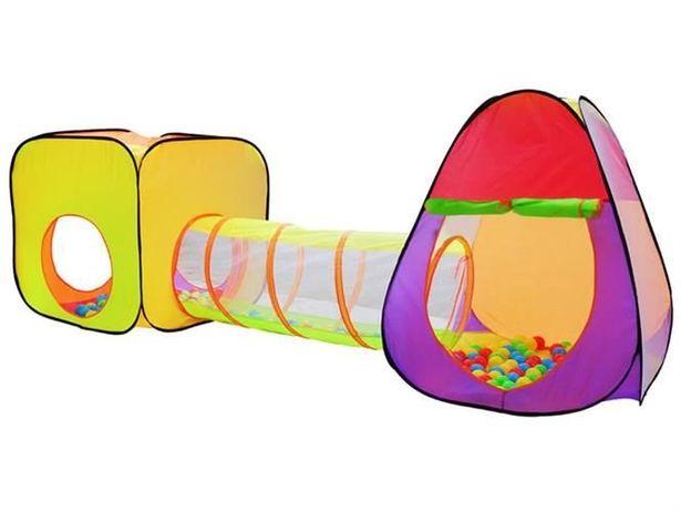 Детские игровие палатки + 200 цветных шариков, набор игровой 3в1
