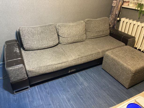 Sofa z pufem