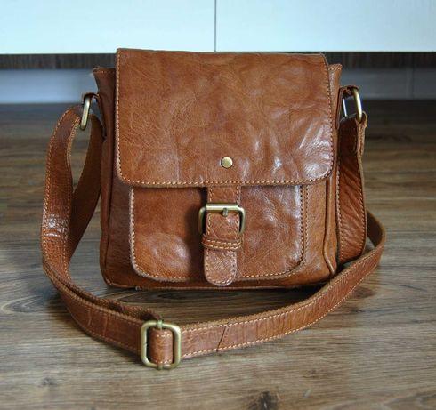 Кожаная мужская сумка мессенджер Rowallan / шкіряна сумка