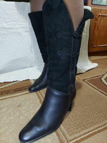 Кожаные сапоги 42 размер