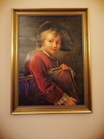 Obraz portret chłopiec z książką