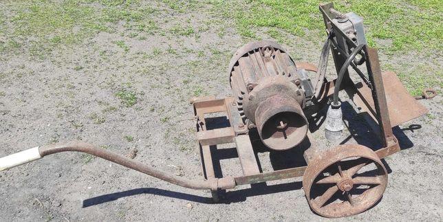 silnik elektryczny 7kw z wózkiem