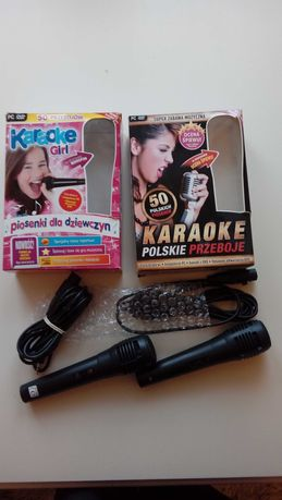 2 mikrofony do karaoke