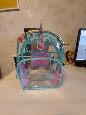 Товар из USA/прозрачный рюкзак для девочки *42см/31см/15см*