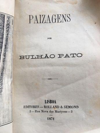 Livro de 1871 de BULHÃO  PATO