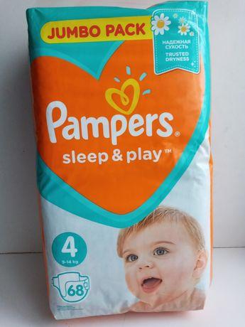 Подгузники Pampers Sleep & Play Размер 4 (Maxi) 9-14 кг, 68 шт