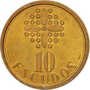 Moeda de 10 escudos de 1986