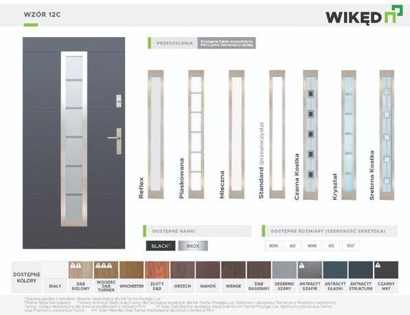 Drzwi zewnętrzne wejściowe Wikęd Termo Prestige Lux 86mm Wzór 12C