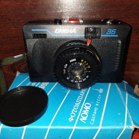 Новый плёночный Фотоаппарат СМЕНА-35, 1991г, СССР.