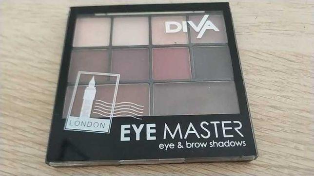 Палетка теней Diva Eye Master London для глаз и бровей