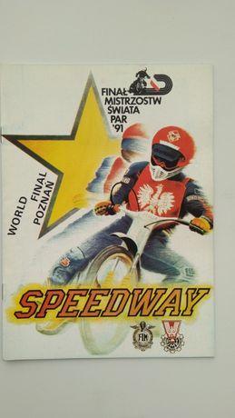 Program żużlowy finał MŚ par Poznań 1991