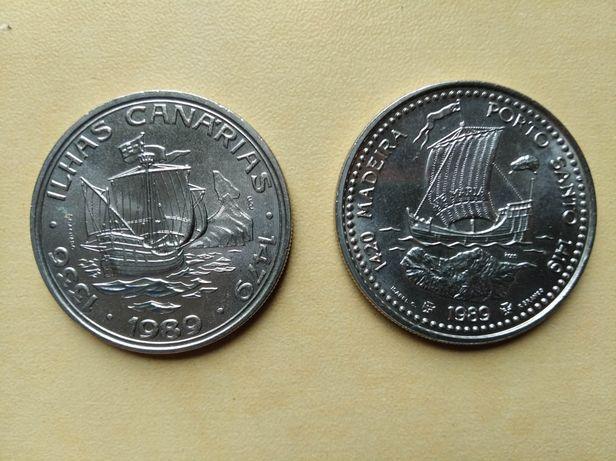 2 monety 100 escudos, Portugalia Madera Wyspy Kanaryjskie