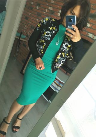 Sukienka obcisła Boohoo zielona 36