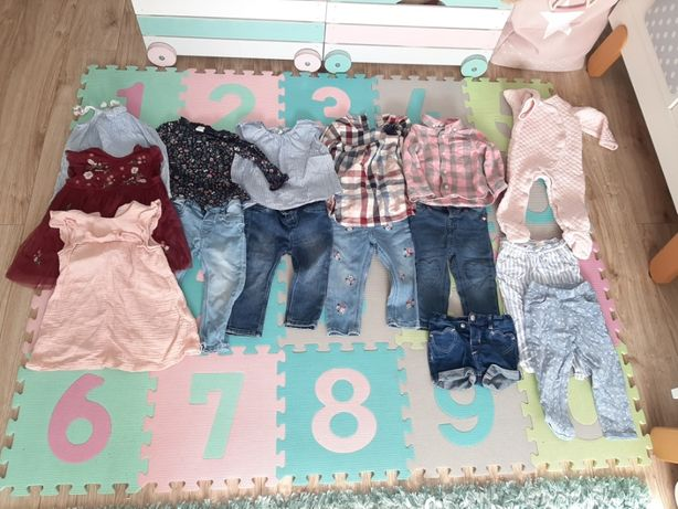 Piękne ubranka dziecięce, stan idealny, rozmiar 80 cm, większość H&M