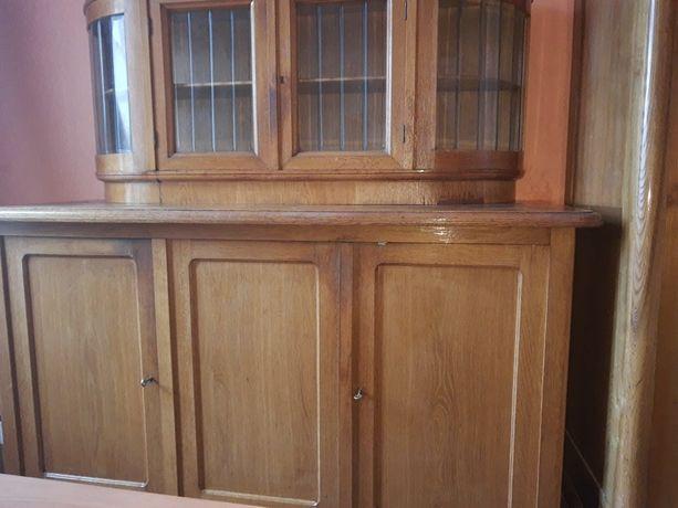 Stary kredens dębowy plus szafa trzy drzwiowa