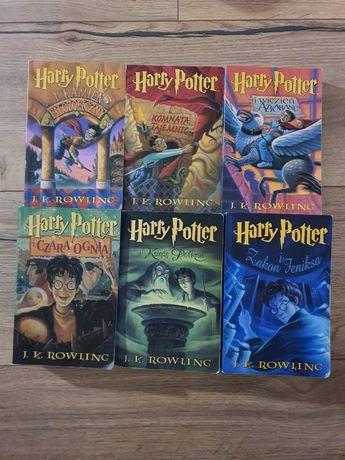Harry potter 1-6 pierwsze wydanie niepoprawione