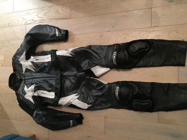 Ashman Damski Skórzany zestaw  strój motocyklowy ,z ochraniaczami