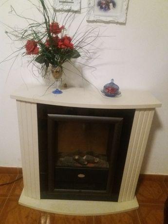 Elegante Lareira elétrica 2 níveis de calor como nova
