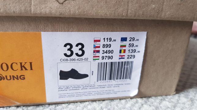 Lasocki nowe buty okazjonalne. Wesele, komunia, roz 33, wkladka 22.5