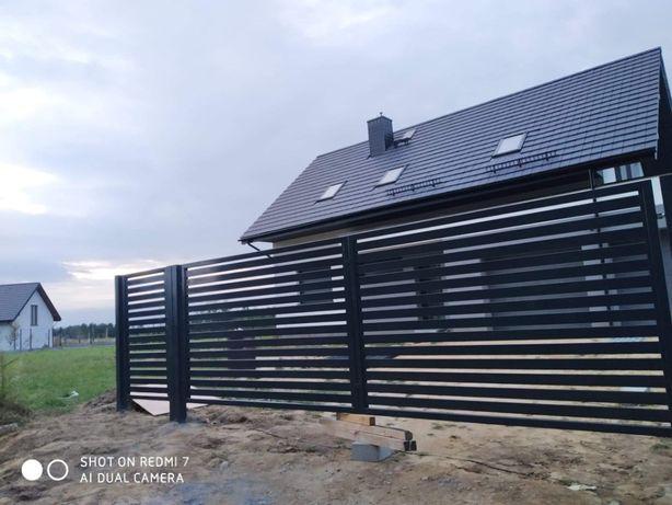 Brama Palisadowa 4mb x1,5 Kompletna Gotowa Do Montażu
