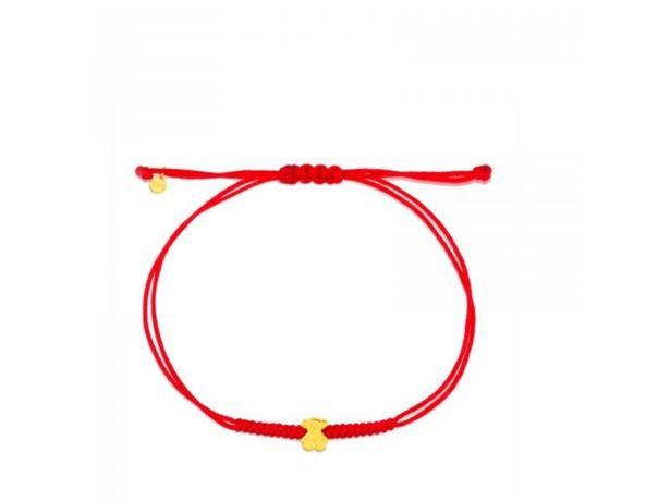 Tous bransoletka Sweet Dolls czerwony nylonowy sznurek złoto