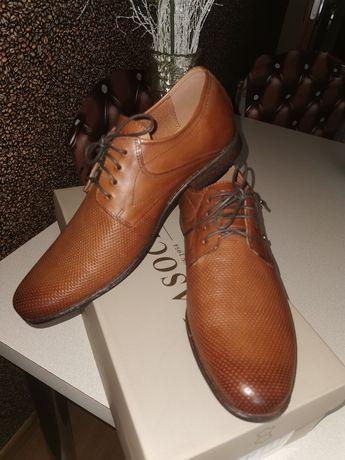Pantofle skórzane Lasocki roz. 42
