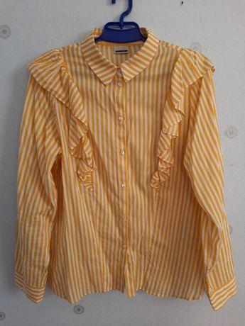 Блузка в полоску с рюшами, Noisy may, L