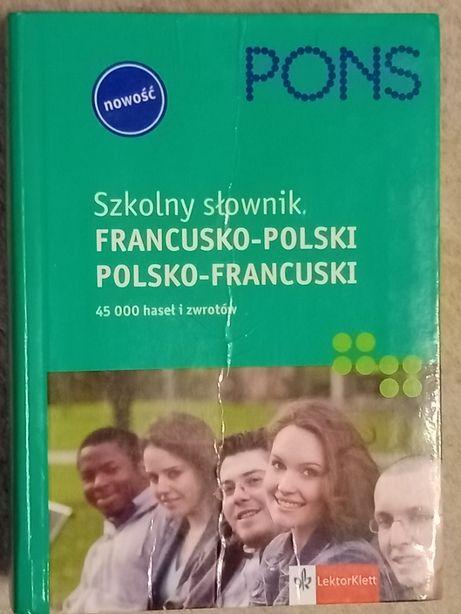 Szkolny słownik polsko-francuski PONS