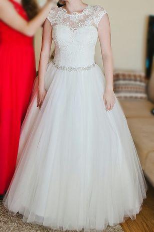 Suknia ślubna, rozmiar 38, kolor ivory