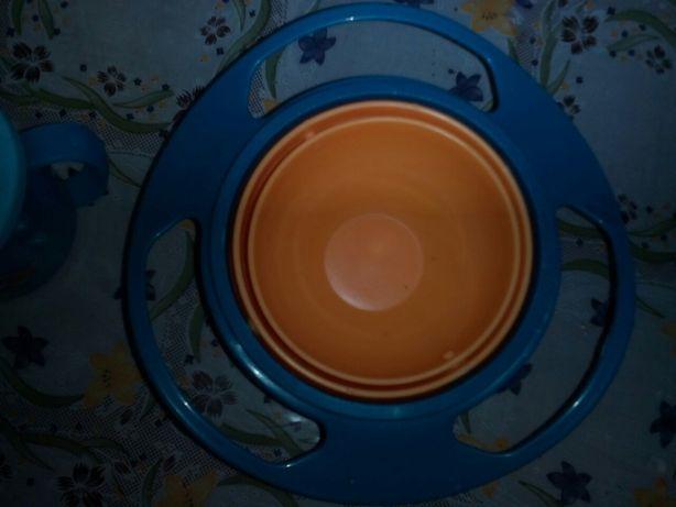 Чашка тарелка непроливайка