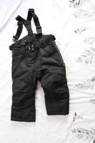 spodnie narciarskie zimowe śniegowe LINDEX czarne 92cm