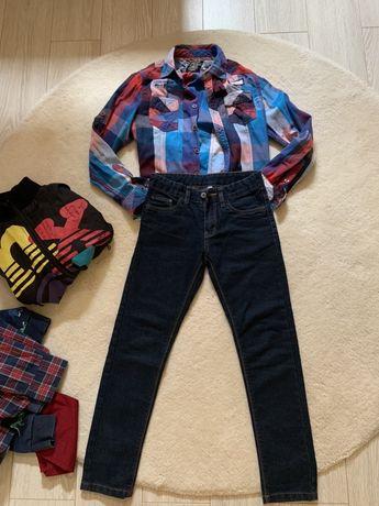 Zestaw do szkoły 134 jeansy nowe i gap bluzka zara  hm