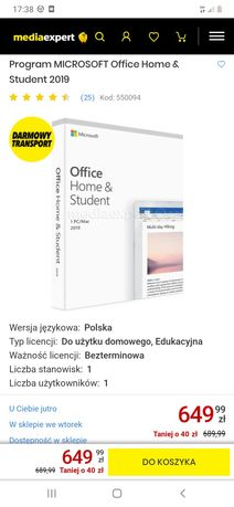 Office-wersja pudelkowa,bezterminowa