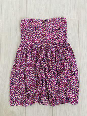 Różowa sukienka bez ramiączek ZARA roz. M