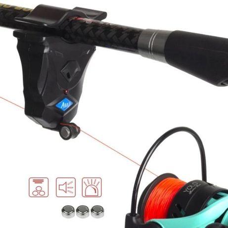 Супер чувствительный рыболовный сигнализатор клева AMD. свет + звук