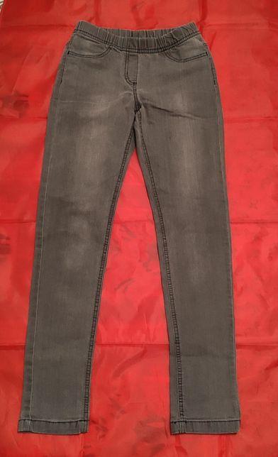 Spodnie jeans dżinsy skinny dziewczęce 11-12 lat rozm. 152 ciemnoszary