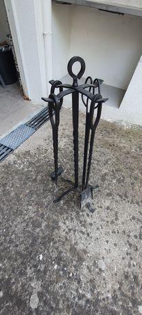 Conjunto para lareira em ferro