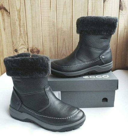 Стильные кожаные утепленные ботинки полусапожки Ecco Trace Lite оригин